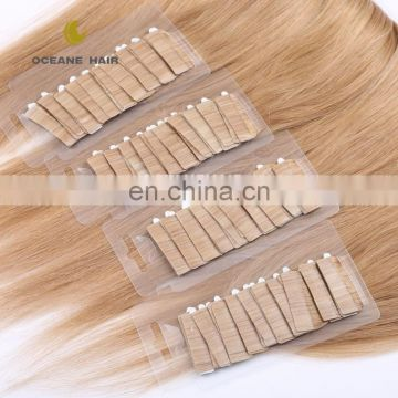 double drawn tape in hair extension 100% human hair tape in hair