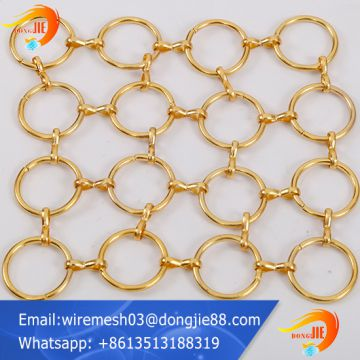 stainless steel Decorative ring metal mesh for ceiling factory