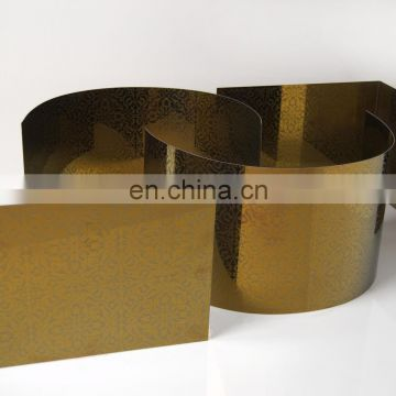 Etching finish color embossed stainless steel sheet for decoration panel