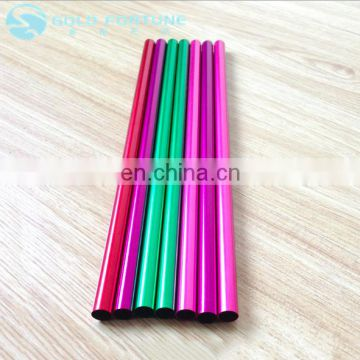 Customized 6*215mm Reusable Aluminum Straw with Many Color