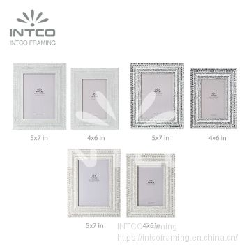 INTCO Classic Metal Finish Tabletop Photo Frame 4×6 5×7 8×10 Inch