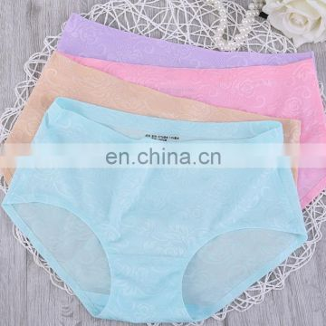 Women Lady Sexy Flower Print Seamless Panties Sexy Panty Underwear Sexy Bikini Briefs Solid