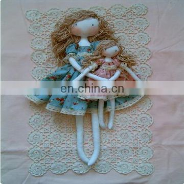 girl rag dolls. soft cloth doll, - polka dots dress