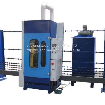 3.5kw PLC Automatic Glass Sandblasting Machine With Aluminium Oxide