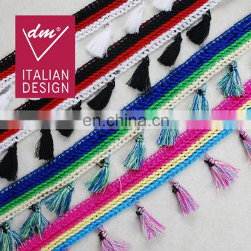 Top fashion multico design fringe tassel trim