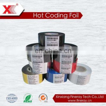 hot coding foil for batch number on plastic bags
