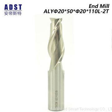 2 flute Parallel Shank HSS Square End Milling Cutter