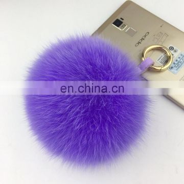 Extra Large Olive Green Arctic Fox Fur Ball Key Chain for Womens Bag or Cellphone or Car