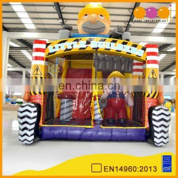 2015 new design little builder inflatable combo