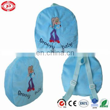 Baby Groovy Slim lady singer pattern embroidered front Lovely girl schoolbag