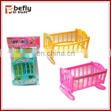Shantou plastic toy doll bed
