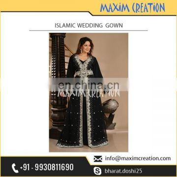 Trusted Brand Selling Hand Made Unique Design Single Piece Muslim Wedding Dress at Favourable Rate