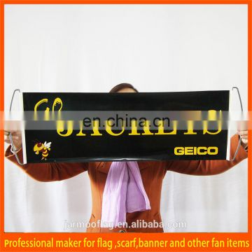 Durable printed first class advertising fan scrolling banner