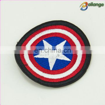 Circle star shape custom logo embroidery patch for Children's wear