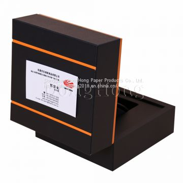 Black Leather MDF Watch Packaging Boxes