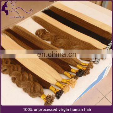 100 keratin u tip indian human hair extension