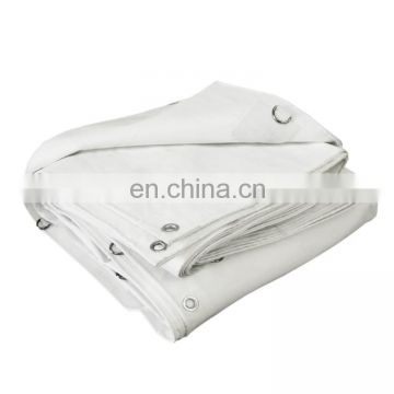 280gsm White Flame Retardant PVC Safety Tarpaulin