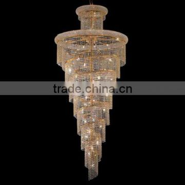 Chrome traditional long hanging dining room chandelier