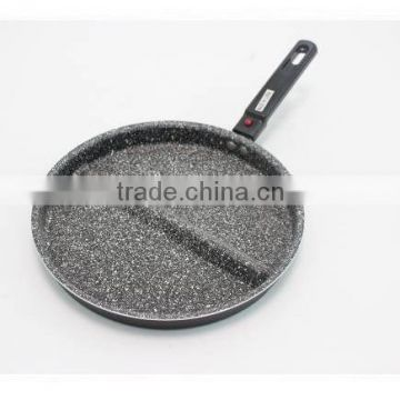 non stick marbel coating multi-use divided frying pan