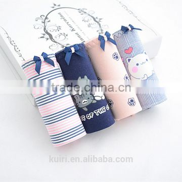 Women Cotton Panties Print cats Underwear Sexy Underpants Cute