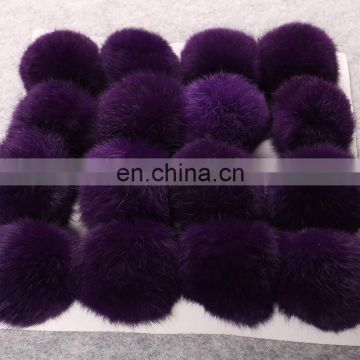 Factory supplier real rabbit fur pompon lovely rabbit fur ball for decoration