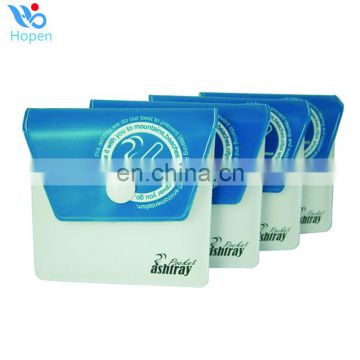 8*8cm green eco-friendly pvc cheap ashtray