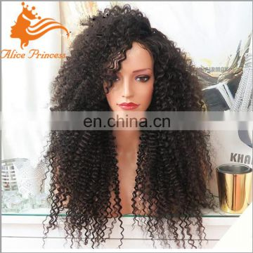 Afro Kinky Curly Human Hair Wigs 180% density Curly Lace Front Wigs For Black Woman