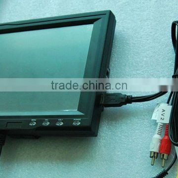 8'' new Innolux Panel 4-wire resistive touch screen monitor/ VGA/ Wireless/  PAL/NTSC