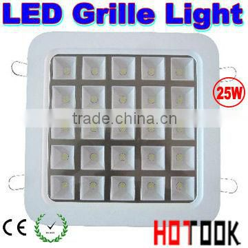 led grill light fixture cheap led grille lights 25w CE RoHS Warranty 2 years