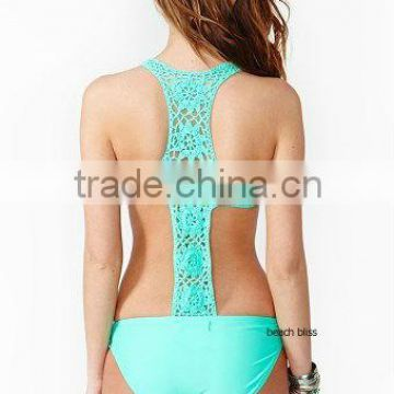 crochet lace ladies women backless swimwear