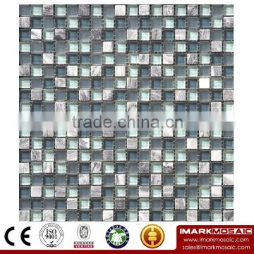IMARK Mixed Color Crystal Mix Marble Mosaic Tiles for Wall Decoration Code IXGM8-046
