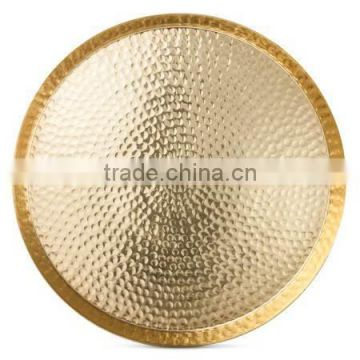 brass metal hammered tray