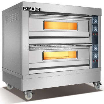 Electric Deck Oven Front S/S 2 Deck 4 Trays FMX-O38B
