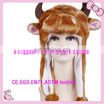 Dongguan Manufacturer make plush cow hat