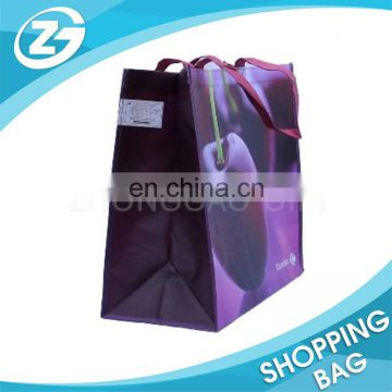 Cheap folding recycled woven polypropylene shopping