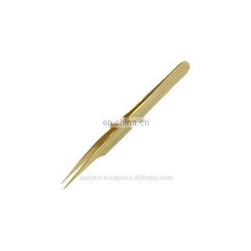 3 NEW Professional Gold Plated Volume Eyelash Extension Tweezers/