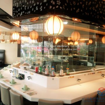 stainless steel Sushi conveyor belt system with acrylic table board