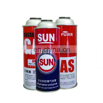 Customized aerosol tin can for butane gas and empty butane canister 220g