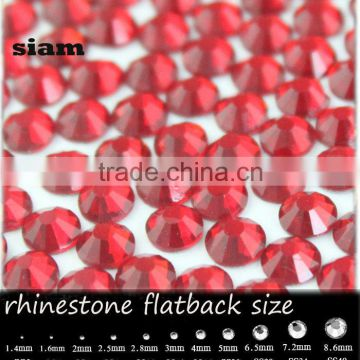 wholesale new deals round ss3-30light siam flatback no mail exquisite glass crystal rhinestone for nail art                                                                         Quality Choice