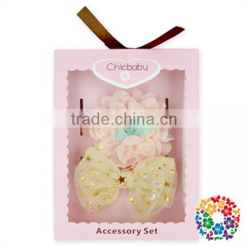 Adorable Baby Birthday Party Hair Accessories Gift Set Boutique Flower Bow Headband Set