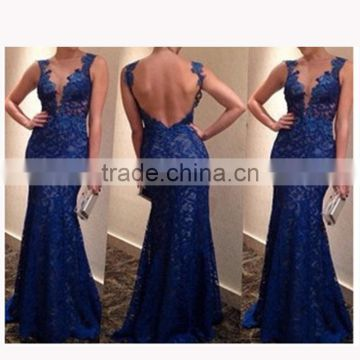 Walson Latest fashion elegant blue slim girl prom dresses