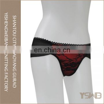 Fashin style comfortable breathable quick dry lace mature in panties