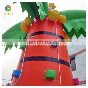 Fun climbing coconut tree inflatable obstacles for kids