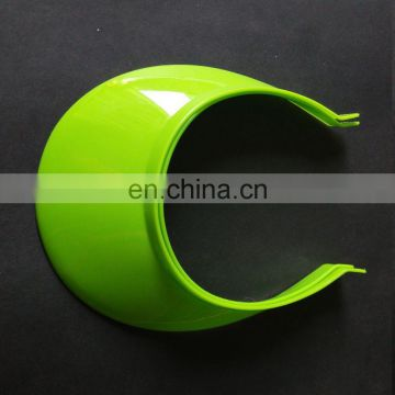 Solid green Uv protection plastic sun visor cap