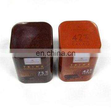 beatiful decorative package square tin box