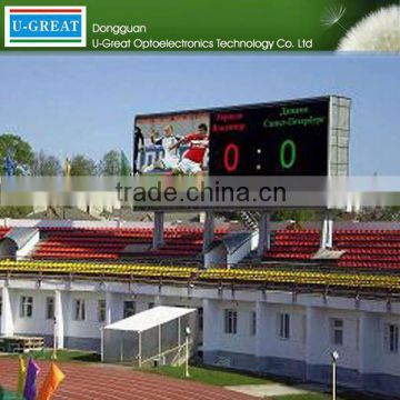 Albaba new products on china market perimeter advertising outdoor full color football stadium led billboard