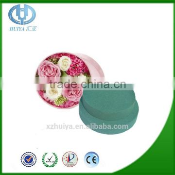 Round gift tin box flower with floral foam