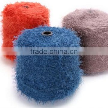 100%Polyamide/Nylon Fancy Feather Knitting Yarn with Colored