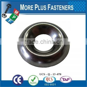 Made in Taiwan Black Phosphate Stainless Steel Countersunk Finishing Washer