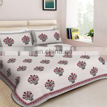 Bed Sheets Manufacture indian handmde luxury Cotton Bed Set Royal Palace Hotel home Bedsheet